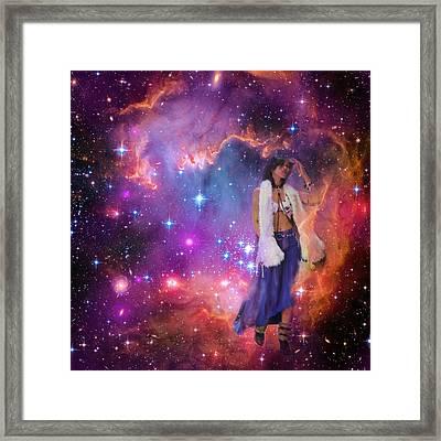 Leaving Eagle Nebula After Stars Were Born Framed Print
