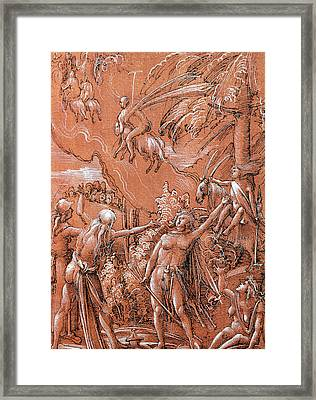Leaving For The Sabbath Framed Print by Albrecht Altdorfer