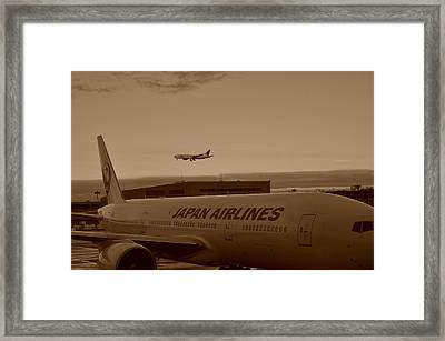 Leaving Japan Framed Print