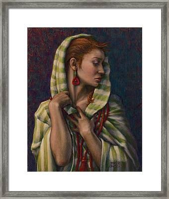 Framed Print featuring the painting Leaving Jericho by Jane Bucci