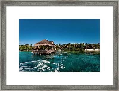 Leaving Kuramathi Resort. Maldives Framed Print by Jenny Rainbow