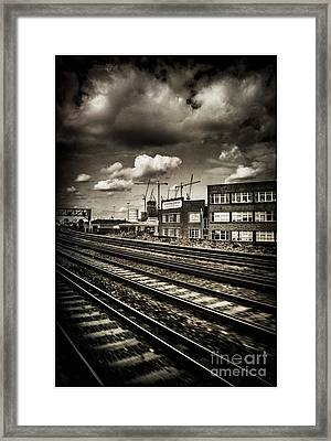 Leaving London Town By Train Framed Print