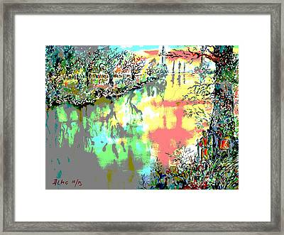 Leaving Middle Earth II Framed Print by Almo M