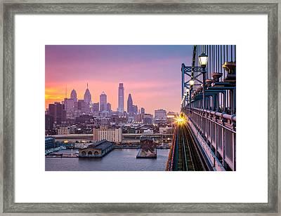 Leaving Philadelphia Framed Print