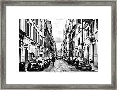 Leaving Popolo Framed Print by John Rizzuto