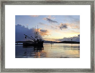 Framed Print featuring the photograph Leaving Safe Harbor by Cathy Mahnke