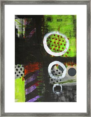 Leaving The Dark Abstract  Framed Print by Nancy Merkle