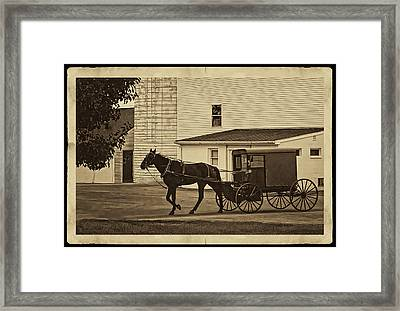 Leaving The Farm Framed Print by Priscilla Burgers