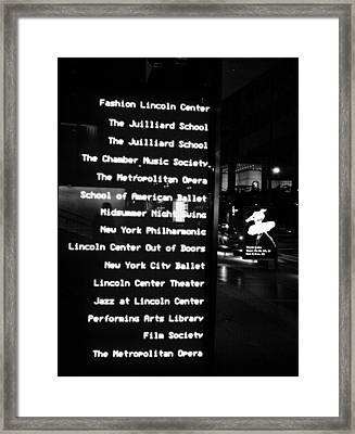 Leaving The Opera House Framed Print by Robin Mahboeb