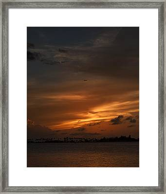 Leaving The Paradise  Framed Print