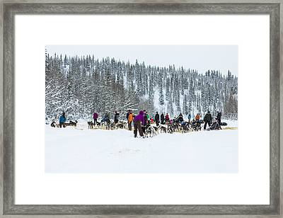 Leaving The Paxson Check Point Framed Print