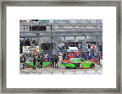 Leaving The Pits Framed Print