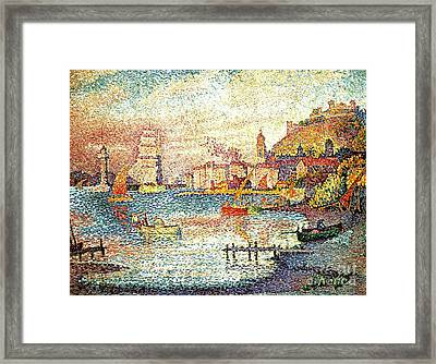 Leaving The Port Of Saint Tropez Framed Print by Pg Reproductions