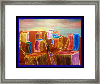 Leaving The Stress Of The City With A  Border Framed Print by Irving Starr