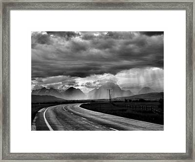 Leaving The Tetons Framed Print by Steven Ainsworth