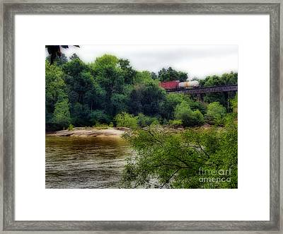 Leaving Town On A Rail Framed Print by Skip Willits