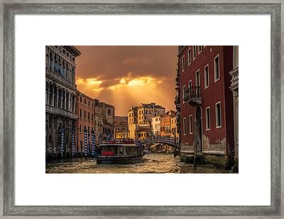 Leaving Venice Framed Print by Alejandro Tejada