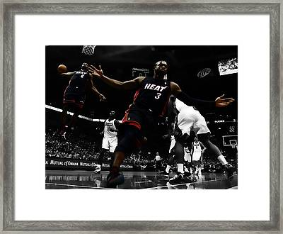 Lebron And D Wade Showtime Framed Print by Brian Reaves
