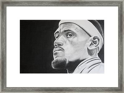 Lebron Framed Print by Don Medina