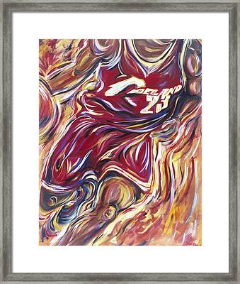 Lebron Guess Who Series Framed Print by Redlime Art