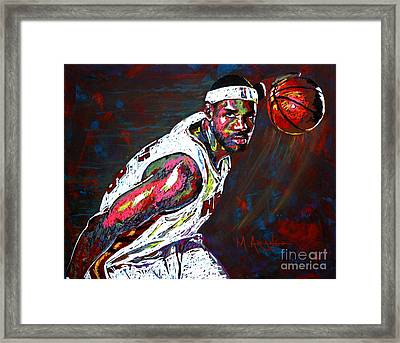 Lebron James 2 Framed Print