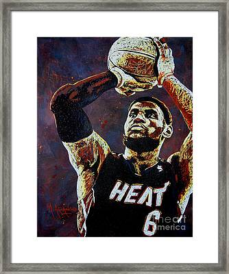 Lebron James Mvp Framed Print