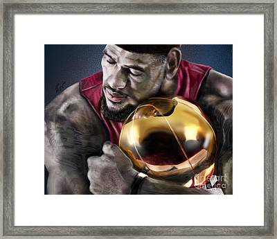 Lebron James - My Way Framed Print