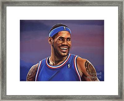 Lebron James  Framed Print by Paul Meijering
