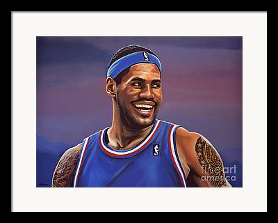 Mr. Basketball Of Ohio Framed Prints