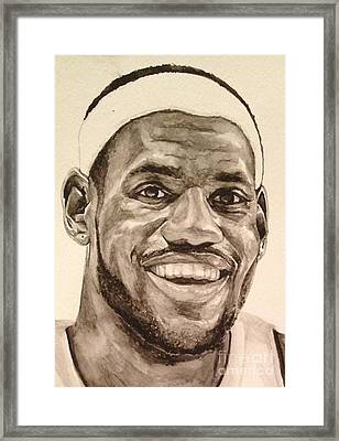 Lebron James Framed Print by Tamir Barkan