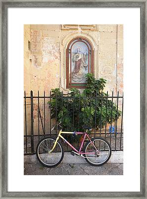 Lecce Italy Bicycle Framed Print