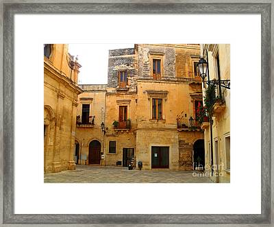 Lecce Stone Framed Print