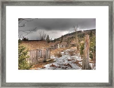 Leconte Lodge Framed Print
