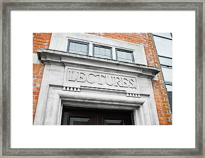 Lecture Theatre Framed Print