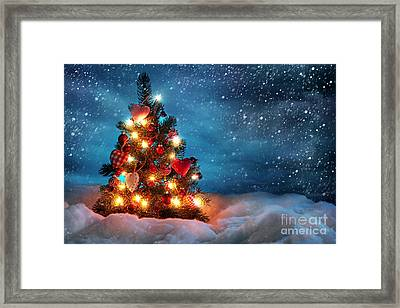 Led Christmas Lights Framed Print by Boon Mee