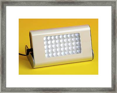Led Light Framed Print