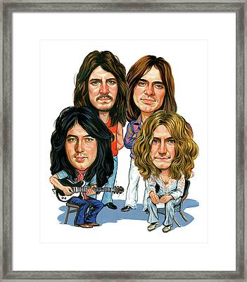 Led Zeppelin Framed Print by Art