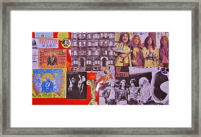 Led Zeppelin  Collage Number Two Framed Print by Donna Wilson