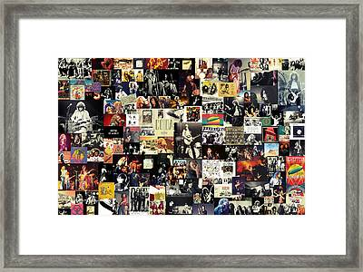 Led Zeppelin Collage Framed Print by Taylan Apukovska