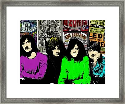 Led Zeppelin Framed Print by GR Cotler