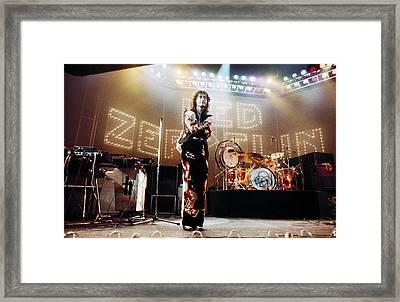 Led Zeppelin Lights 1975 Color Framed Print