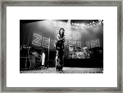Led Zeppelin Lights 1975 Framed Print