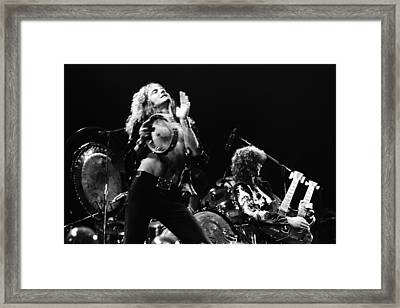 Led Zeppelin Live 1975 Framed Print