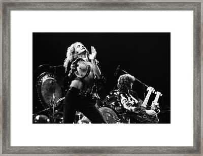 Led Zeppelin Live 1975 Framed Print by Chris Walter