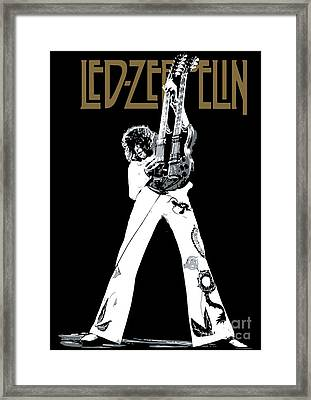 Led Zeppelin No.06 Framed Print by Caio Caldas