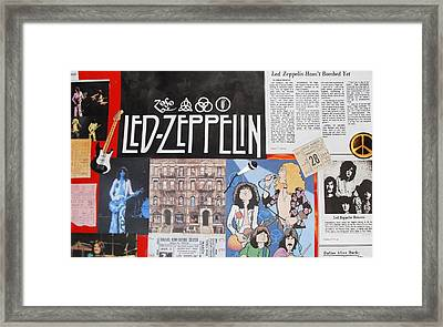 Led Zeppelin Past Times Framed Print by Donna Wilson