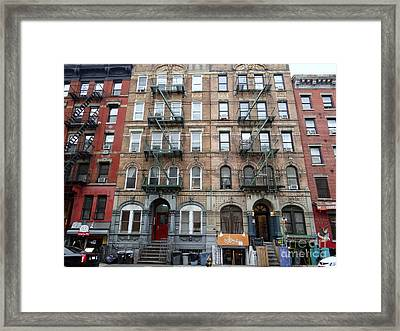 Led Zeppelin Physical Graffiti Building Framed Print