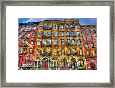 Led Zeppelin Physical Graffiti Building In Color Framed Print by Randy Aveille