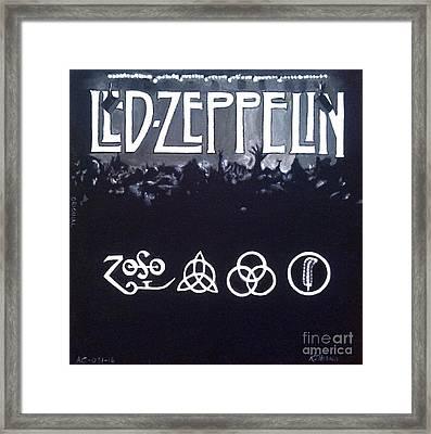 Led Zeppelin Framed Print by Richard John Holden RA