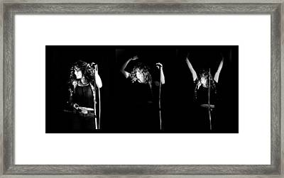 Led Zeppelin Robert Plant Triptych Framed Print by Chris Walter